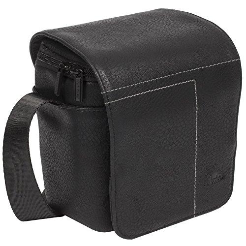 RIVACASE Colt Systeemcamera tas - Praktische tas met anti-slip schouderriem en accessoirevakken - zwart