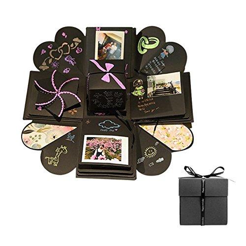 Creatieve verrassing Explosion Box DIY fotoalbum handgemaakt scrapbook vouwbaar fotoalbum, verjaardag Valentijnsdag, bruiloft, Moederdag, DIY cadeau