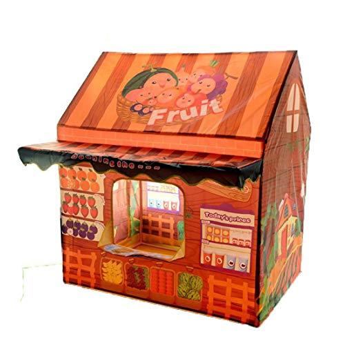De dibujos animados portátil plegable príncipe o princesa del juguete de teatro resultado cochecito cuarto de juguetes dentro de la tienda de los niños y el exterior del castillo,Verdulero
