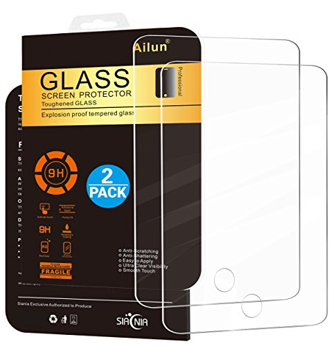 Ailun Screen Protector Compatible iPad Mini [2Pack],Tempered Glass,CompatibleApple iPad Mini 1/2/3,Case Friendly-Siania Retail Package
