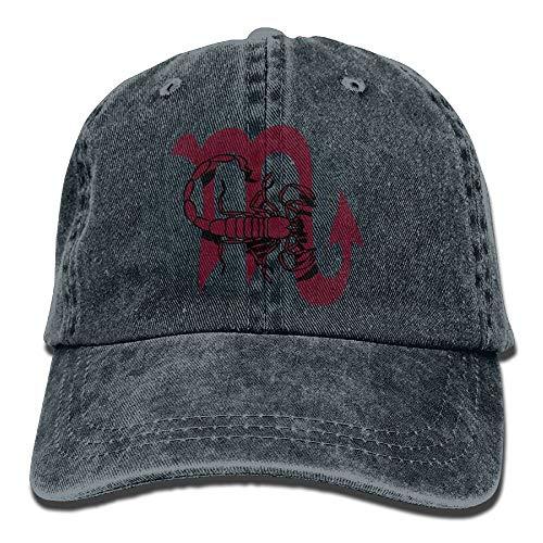 ONGH Scorpio Horoscope Sign Denim Hat Sombrero de béisbol Curvo Ajustable para Hombres