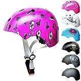 SkullCap® Casco BMX - Casco Skate - Casco Bici - Caschi Donna Uomo Bambino...