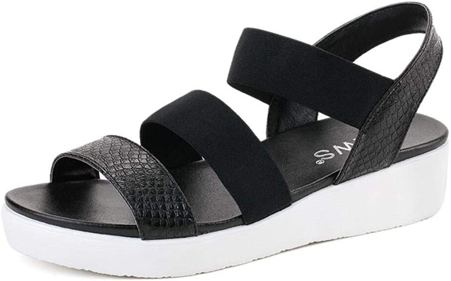 Lady Sandals Womens Summer Flat Sandals Flat with Wild in The Sandals White Casual Quality Super for Women