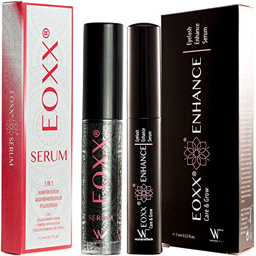 SUPERSET! - Wimpernserum, Augenbrauenserum und Pflegeserum im Set 1x EOXX SERUM Wimpernserum lange Wimpern und 1x EOXX ENHANCE Wimpernserum Sensitiv Pflege