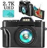 Digital Camera, 2.7K 30MP YouTube Vlogging Camera Mini Full HD 3.0 Inch Flip