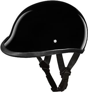 Daytona Helmets Motorcycle Half Helmet Hawk- Hi-Gloss Black 100% DOT Approved