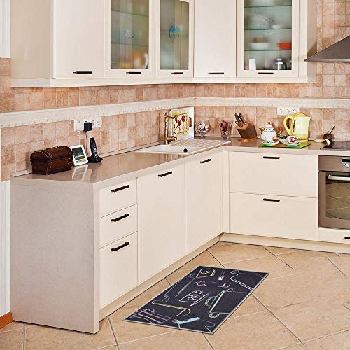 Tapete para Cozinha Kapazi Gourmet 80x50 cm A Cozinha É com Antiderrapante