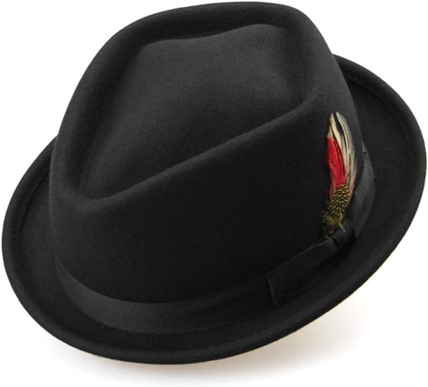 CHENJUNAMZ Wool Fedoras Winter Women Very popular! with Hat Feathe Felt Fedora Nashville-Davidson Mall