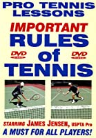 """Pro Tennis Lessons """"Rules of Tennis"""" For Singles & Doubles Play! Sensational New DVD Starring Renowned USPTA Pro James"""