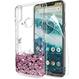 LeYi Moto One Case with Screen Protector, Girl Women 3D