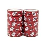 Juego de 10 rollos de cinta adhesiva de papel de Papá Noel de Navidad (15 mm x 10 m), color rojo