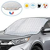 UBEGOOD Car Windshield Snow Cover, Car Windshield Cover for Snow, Ice, Sun, Frost Defense with 4 Layers Protection, Medium Size Waterproof Windshield Cover Fits for Most Standard Cars & CRVs