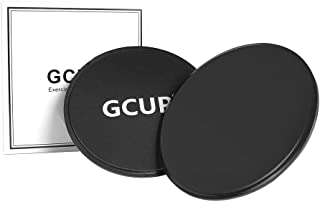 GCUP Core Sliders, 2 Pack Dual Sided Exercise Gliding...