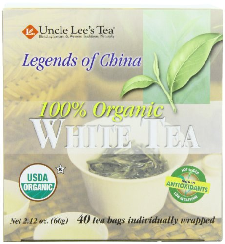 Uncle Lee's Tea Organic White Tea, 40-Count Boxes (Pack of 6)