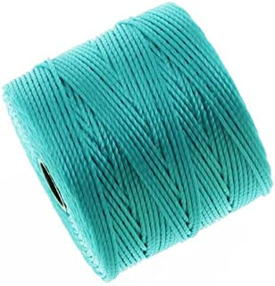 BeadSmith Super-Lon Cord - Size #18 Twisted Nylon - Aqua / 77 Yard Spool