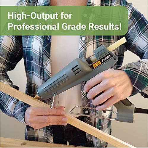 AdTech Industrial Strength Full Size High-Output Hot Melt Glue Gun – Professional Grade Hot Glue Gun for Carpentry, Repairs & Remodeling, Grey, 200 watts - 189