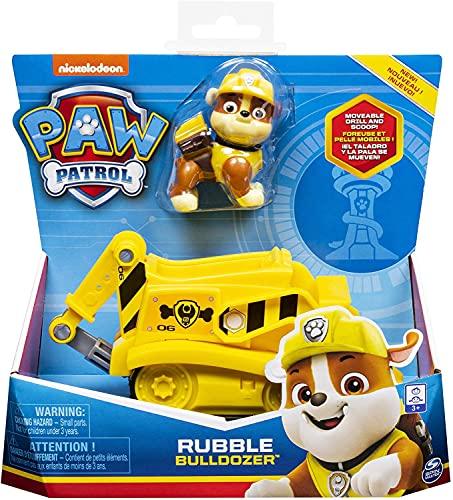 Paw Patrol, Veicolo Ruspa di Rubble, 1 Personaggio di Rubble Incluso, dai 3 Anni