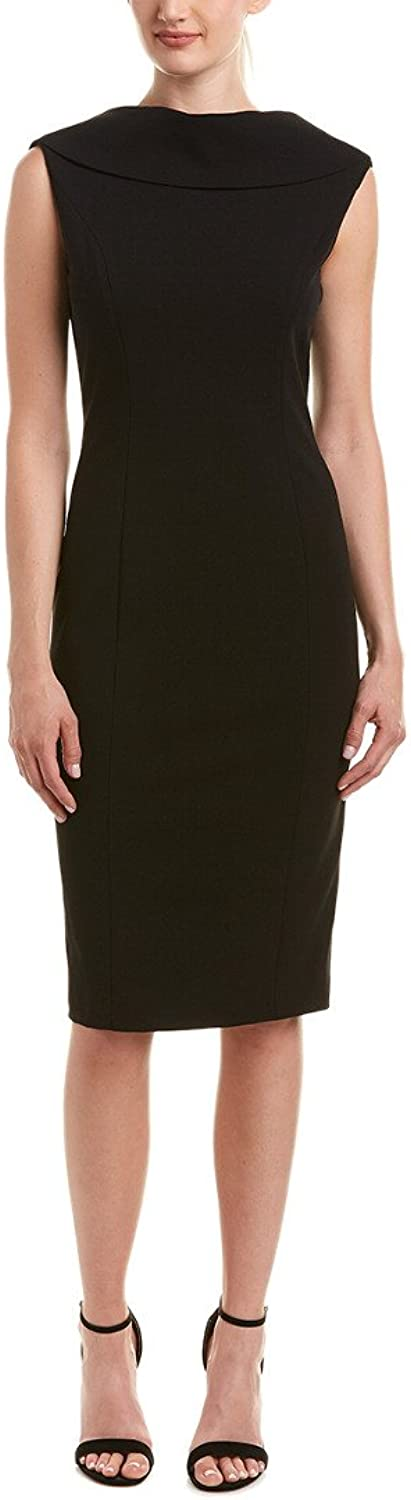 Adrianna Papell Womens Roll Neck Sheath with VBack Dress
