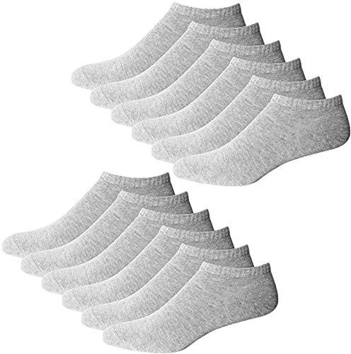 YouShow Sneaker Socken Herren Damen 10 Paar Kurze Halbsocken Quarter Baumwolle Unisex(Grau,43-46)