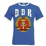 aprom DDR Deutschland Ringer T-Shirt Fußball Trikot D04 Royal (S)