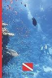 LIBRO DE INMERSIONES: DIVE LOG | CUADERNO DE REGISTRO DETALLADO PARA BUCEADORES | HASTA 120 INMERSIONES | SUBMARINISMO. BUCEO. Diseño Fantasía bajo el mar.
