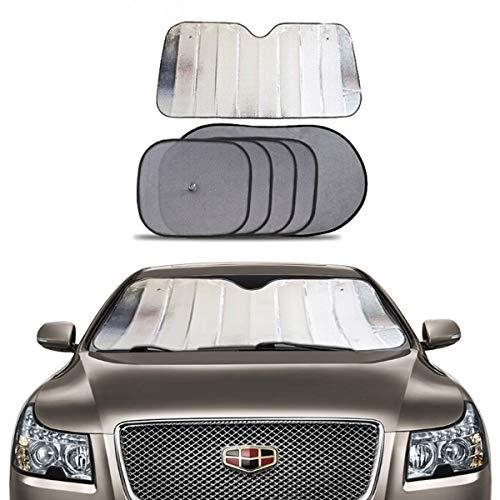 5-teiliger Sonnenschutz für Autofenster, universell für hintere und Seitenfenster, maximaler UV-Schutz für Kinder, Haustiere und Auto