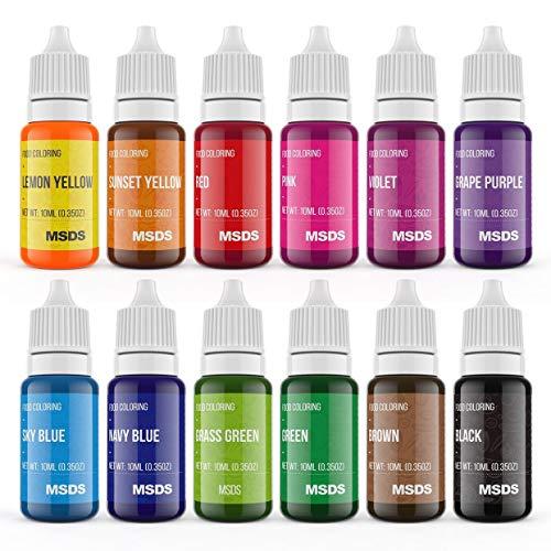 Gel Food Coloring Rainbow Colors