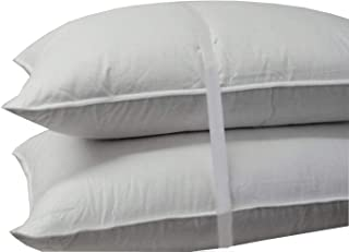 Royal Hotel's Down Pillow - 500 Thread Count Cotton Shell, King Size, Firm, 1 Single Pillow