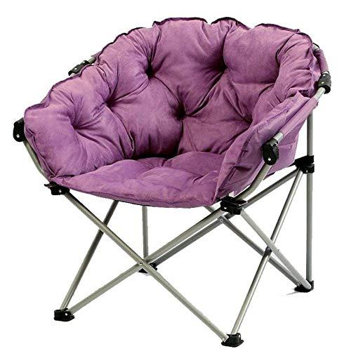 Alvnd Silla de Cubierta Plegable de sillón de Gravedad Cero, sillón Soltero Lavable Sofá Cama Sofá Cama Redonda Creativa Ley Suede Tela Plegable al Aire Libre Tumbonas