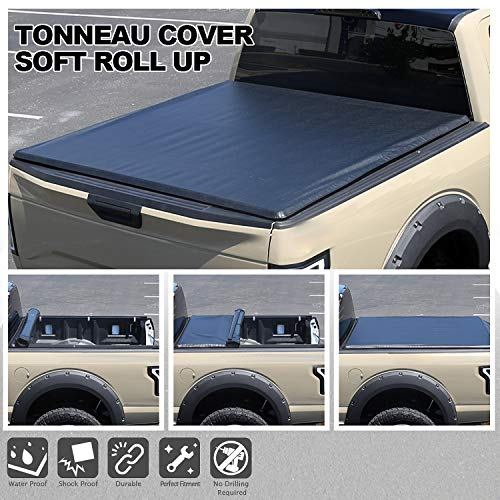 Spec-D Tuning 5'6' Short Bed Roll Up Vinyl Tonneau Cover for 2015-2019 F150