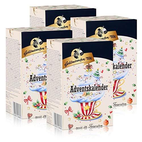 Goldmännchen-Tee Adventskalender mit 24 Teesorten 50g (4er Pack)