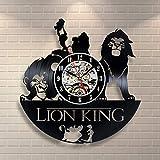 StarlingShop El Rey león Reloj de Pared de Vinilo El Rey león Reloj de Pared...
