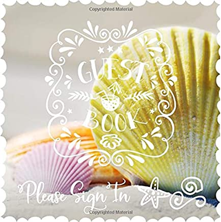 Pastel Seashell Lettering Guest Home Book Guest Book: Beautiful Beach Guestbook For Vacation House Beach Wedding Party Sign In B/&B Holiday Hotel- Lined Square Pages To Write In Guesthouse Visitors