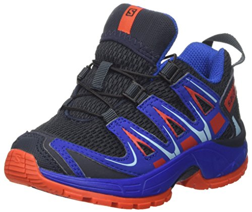 SALOMON Unisex-Kinder Xa Pro 3D J Outdoor-Multisport-Schuhe, Blau (Deep Blue Yonder/Lava Orange), 37 EU