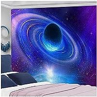 タペストリーの美学、 宇宙宇宙星壁掛けヒッピーレトロ家の装飾ヨガビーチマット魔術壁布タペストリー、150x100 cm / 59x39インチ