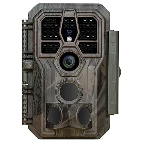 GardePro E5 Wildkamera 24MP 1296P Nachtsichtbereich Bis 30m Wildkamera mit Bewegungsmelder Nachtsicht 0,1S Schnelle Trigger, No Glow 940nm IR LEDs, IP66 Wasserdicht ,120° Erfassungswinkel