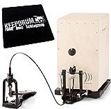 Schlagwerk CAP 100 Cajon Pedal Fußmaschine inkl. Tasche u. Bodenplatte + keepdrum Sitzpad CP01