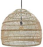 Pantalla industrial retro, lámparas de bambú tejidas a mano creativas, iluminación de techo de mimbre de ratán de estilo chino, iluminación E27 de la isla de cocina, para la cabecera del dormitorio