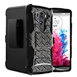 Untouchble Compatible with LG V10 | V10 Holster Case [Heavy Duty]- Shockproof Swivel Holster Case with Built in Kickstand - Steel Plate