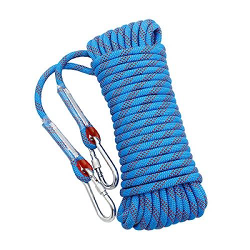 YAHAO Cuerda de Escalada 12 Mm de Espesor Cuerda de Escalada Al Aire Libre con Mosquetón Equipo de Supervivencia para Acampar Accesorios de Escalada,10m