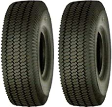 RM43 (Lot of 2) 2.80/2.50-4 Tubeless Sawtooth Rib Tires 4 ply Rated