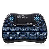 YAGALA Mini Tastiera Retroilluminata con 7 Colori, 2.4GHz Tastiera remota Portatile Wireless con...