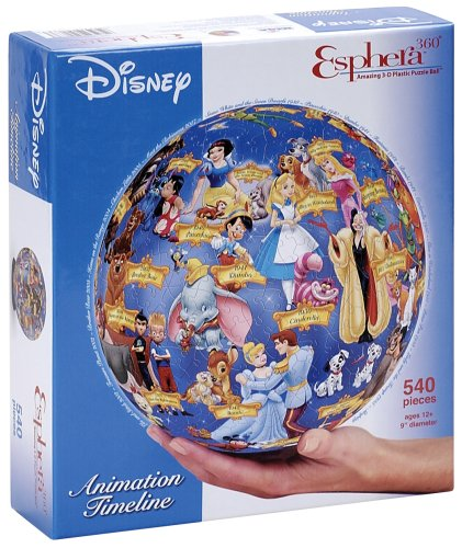 "Esphera 360 9"" 540 Pieces Disney Globe: Disney Timeline by Mega Brands"