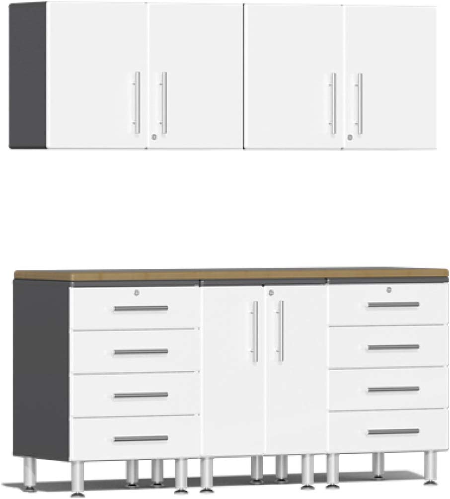 Ulti-MATE Omaha Mall UG29062W 6-Piece Cabinet Kit 100% quality warranty St Bamboo with Worktop in