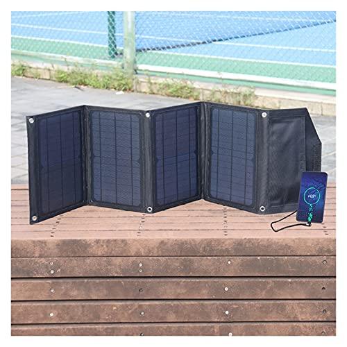 Cargador portátil del Panel Solar Plegable de 30W 5V USB QC3.0 Carga por Camping Power Power Station Cell Tablet Tablet Power Bank (Color : Zwart)