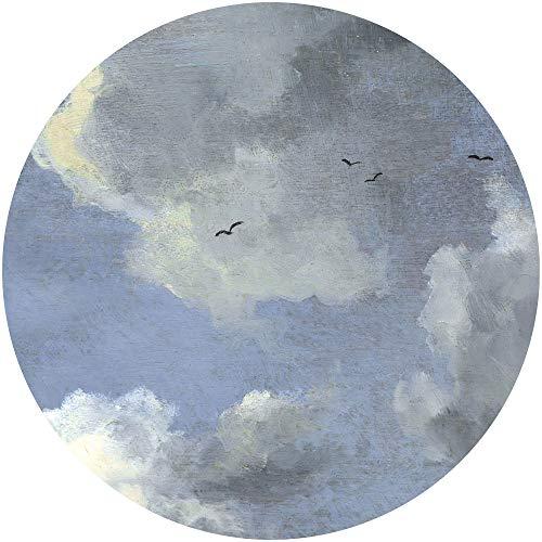 Komar DOT runde und selbstklebende Vlies Fototapete Simply Sky - Ø Durchmesser 125 cm - 1 Stück - Tapete, Dekoration, Wandtapete, Wandbild, Wandbelag, Designtapete - D1-037