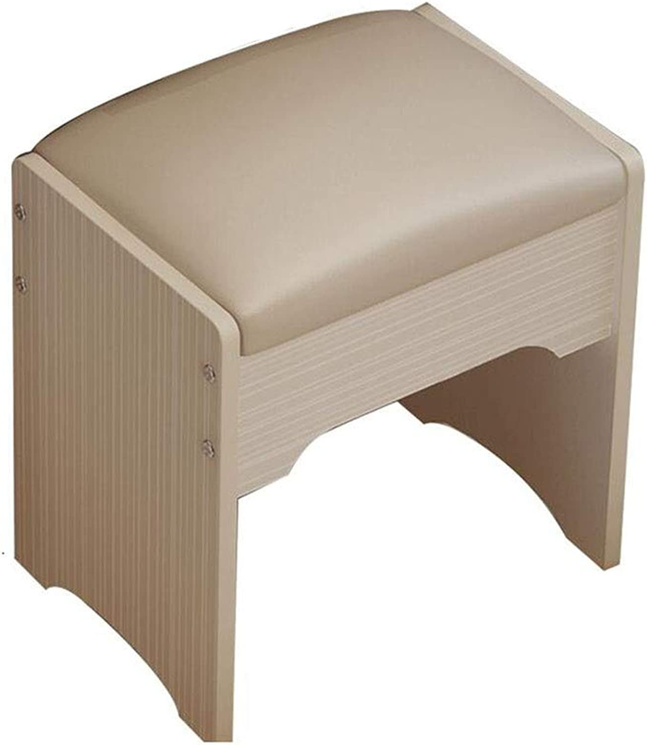 BYCSD Vanity Stool Bedroom Makeup Vanity Bench Piano Seat with Upholstered Seat (color   01)