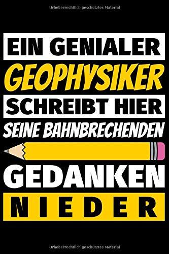 Notizbuch liniert: Geophysiker Geschenke Beruf