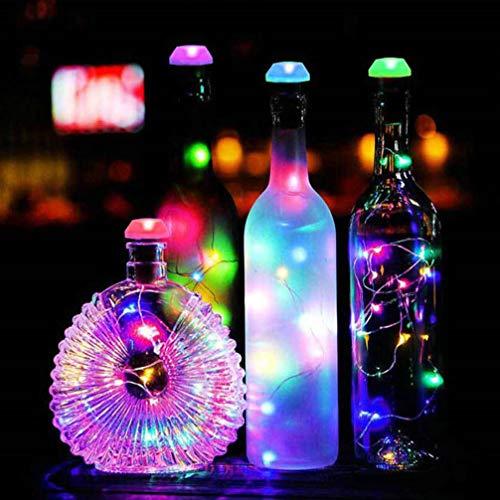 OSALADI 3 Piezas de Luces Solares para Botellas de Vino con Corcho Alambre de Cobre Resistente Al Agua Luces para Botellas Luces de Cadena de Corcho para Fiestas en Casa Festival de