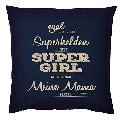 Art & Detail Shirt Coussin : Maman Mom Fête des Mères – Il Y A Super Girl Ma maman – Comme Présent